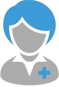 avatar medico professionista donna grigio blu di Valeska Di Renzo