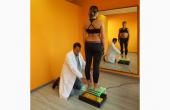 Valutazione posturale e dell'appoggio del piede su pedana podometrica
