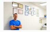 Daniele Barnabei nel suo studio