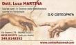 dr Luca Martina Osteopata fisioterapista Laurea spec in Scienze della riabilitazione